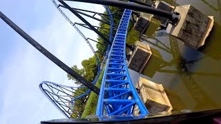 Goliath Front Row On Ride POV - Walibi Holland