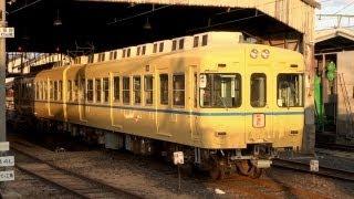 一畑電車 2100系 一畑電鉄カラー復刻編成 (28-Nov-2012)