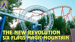 The New Revolution Roller Coaster POV at Six Flags Magic Mountain thumbnail