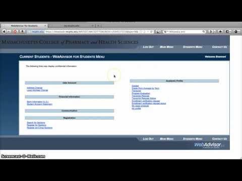 WebAdvisor Overview (MCPHS)