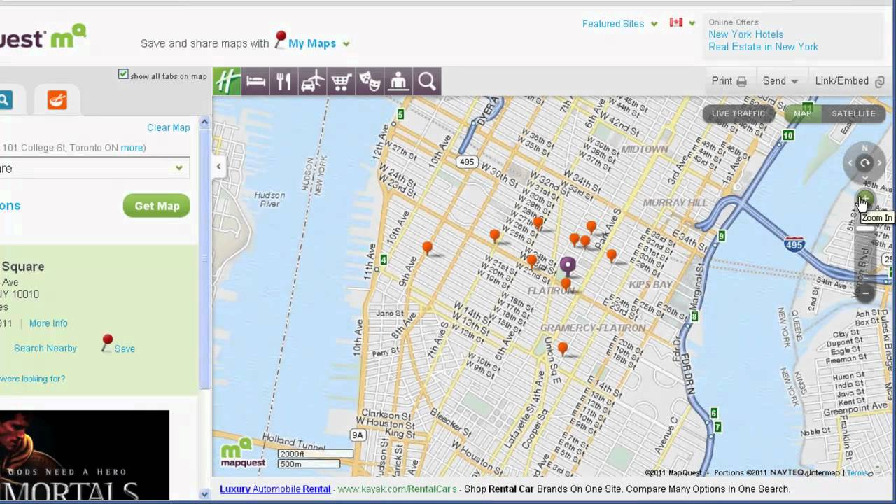 MapQuest Map Search - YouTube
