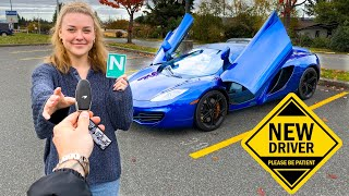 TEACHING MY 17 YEAR OLD HOW TO DRIVE IN A SUPERCAR! *HOPE WE DONT CRASH*