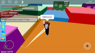 REACHING 6B STEPS IN SPEED CITY! (Roblox)