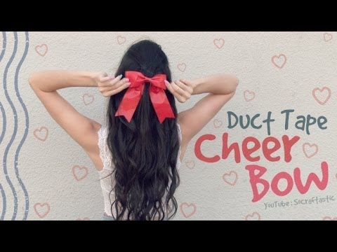 DIY CHEER BOW With Duct Tape