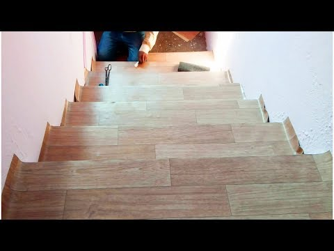 Genial Floor Mat For Staircase | How To Lay Sheet Vinyl Staircase ...