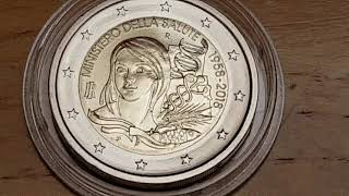 2 euro € 2018 ITALIE  ministero della salute 1958 2018