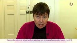 Emeritaprofessori Terttu Utriainen Naisen nakerrettu euro -seminaarissa 28.4.2016
