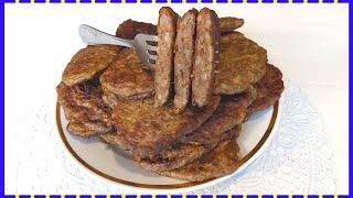 Оладьи из куриной печени и риса