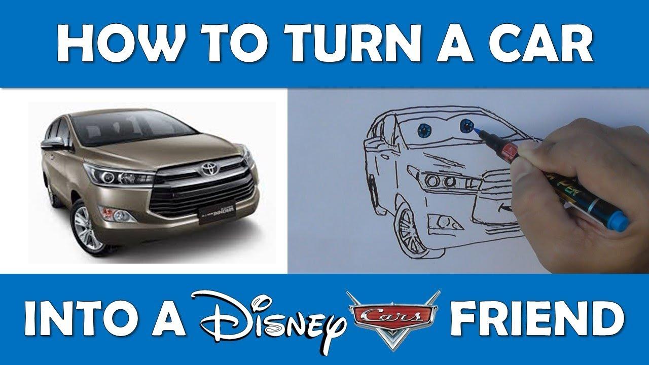 cara menggambar mobil kijang innova