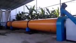 видео Барабанная сушилка для щепы и сыпучих материалов