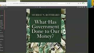Recap of What has Government Done to Our Money ~ Bitcoin to the Max