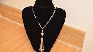 Jewelry Tutorials: Episode 18: Tassel Necklace