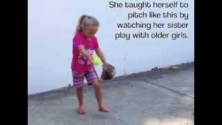 5 Yr Old Fast Pitch Softball Girl
