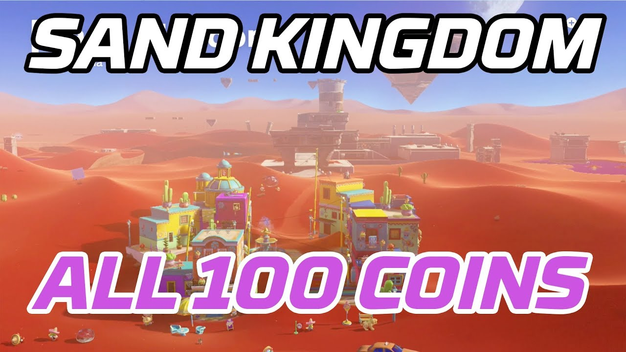 Super Mario Odyssey All Sand Kingdom Coins 100 Purple Local Coins
