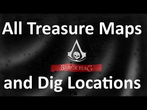 Assassin S Creed 4 Black Flag All Treasure Maps And Treasure Locations Youtube