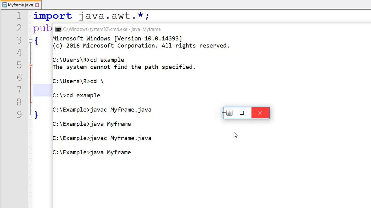 How to Create Frame in Java AWT (Hindi) - YouTube