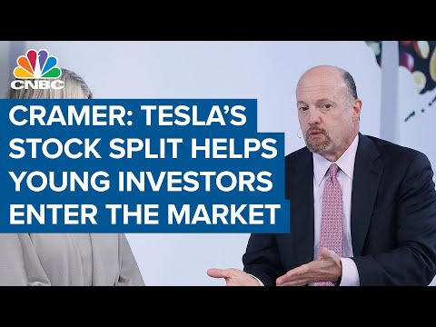 Cramer says Tesla's stock split is good for the market because it ...