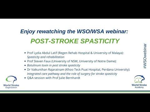 WSO webinar: Post-stroke spasticity 1/2