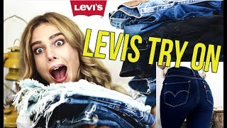 �������� ���� MY LEVI'S COLLECTION - TRY ON and BUYING TIPS! || grrlinthecurl ������