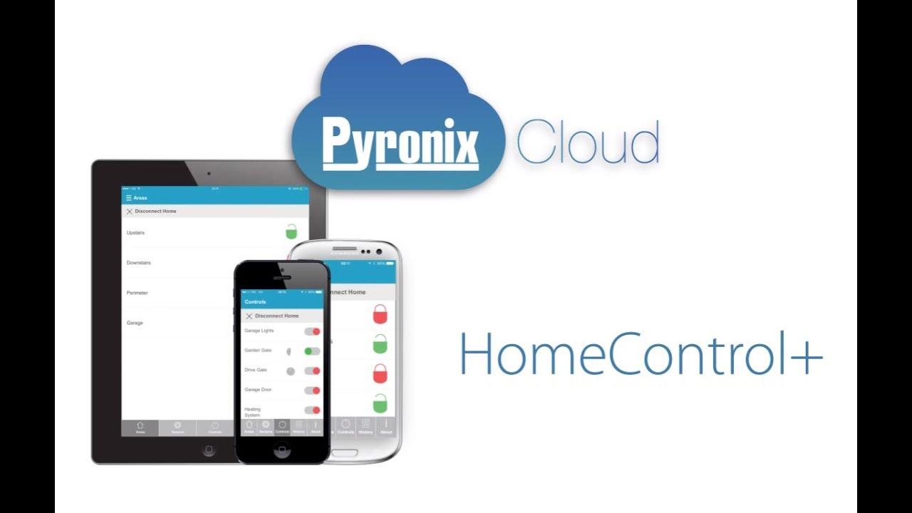 pyronix homecontrol  security app and pyronixcloud