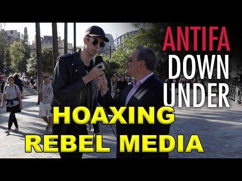 Pretending To Be ANTIFA - Rebel Media Hoax