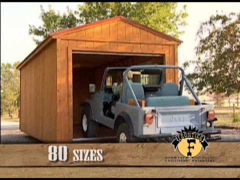 Frontier Portable Buildings Tv Commercial Youtube