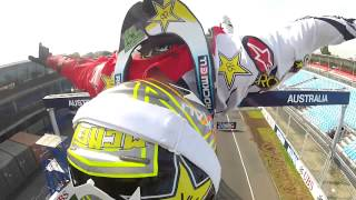 Fearless Nitro Circus Live riders catch Formula 1 fever
