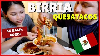 The BEST BIRRIA DE RES (Beef) Quesa Tacos | Juicy Homemade Tacos Dipped in Consome!
