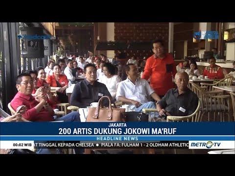 Suasana Saat 200 Artis Dukung Jokowi-Maruf