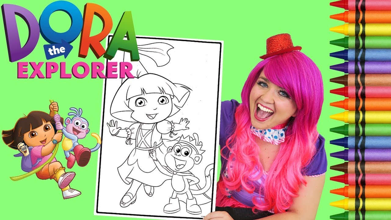 Coloring Dora The Explorer Princess