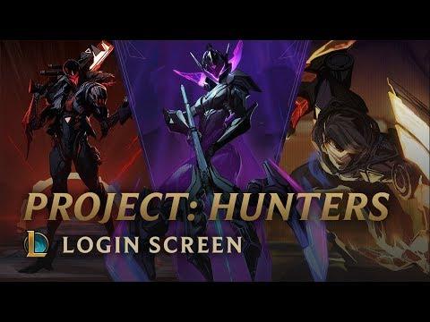 PROJECT: Hunters | Login Screen - League of Legends