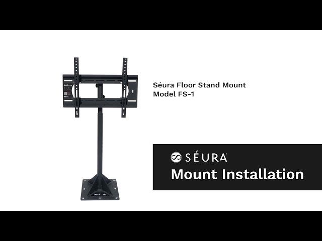 How to Install an Outdoor TV with the Séura Floor Stand (Model FS-1)