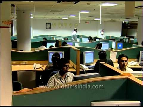 Indian BPO employees interacting with international clients over the phone
