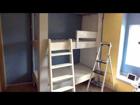 Kids Room. Built in Bunk Bed Part 3. Paint