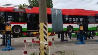 �������� ���� Rozładunek Solarisa Trollino 18M Lublin - 07-05-2014 ������
