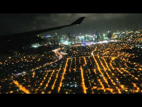 "[B747]Night landing Manila Airport Delta Airlines 275 B747-400(16'23"")4481"