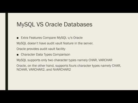 MySQL vs Oracle Databases