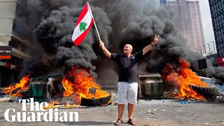 Lebanon protests: key moments from a week of unrest