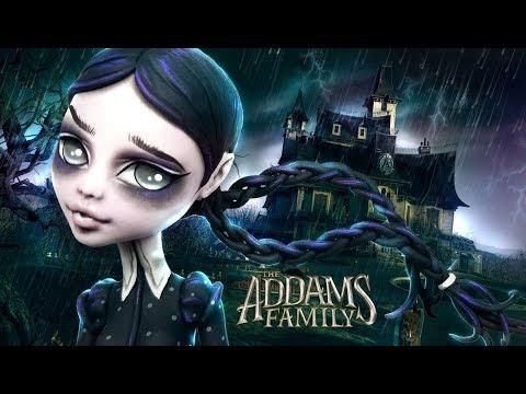 Doll Figurine Repaint WEDNESDAY ADDAMS The Addams Family | Halloween | Monster High Ooak Repaint