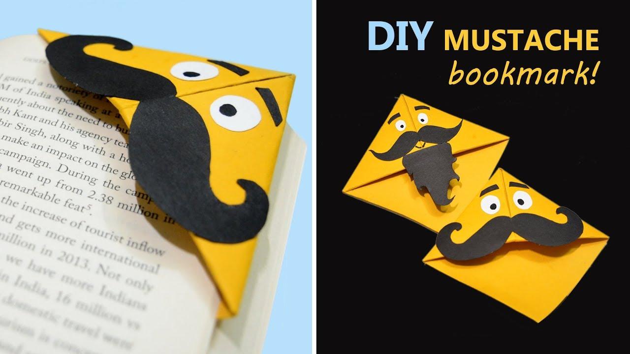 The Mustache Bookmark - Best DIY Ideas - YouTube