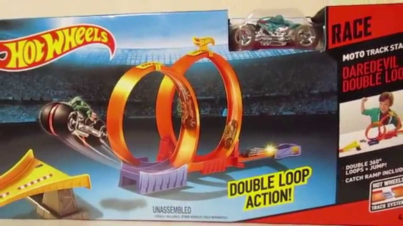 hot wheels moto track stars daredevil double loop 2015. Black Bedroom Furniture Sets. Home Design Ideas