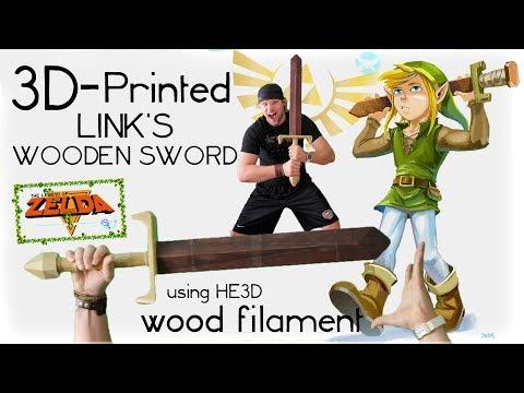 ZELDA COSPLAY 3D-Print Link's Wooden Sword using REAL WOOD FILAMENT!