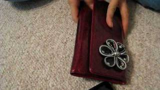 Cute Leather Flower Wallet Thumbnail