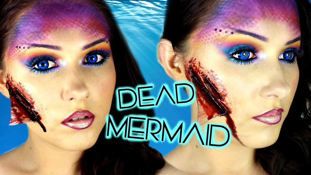 Dead Mermaid Halloween Makeup Tutorial - YouTube
