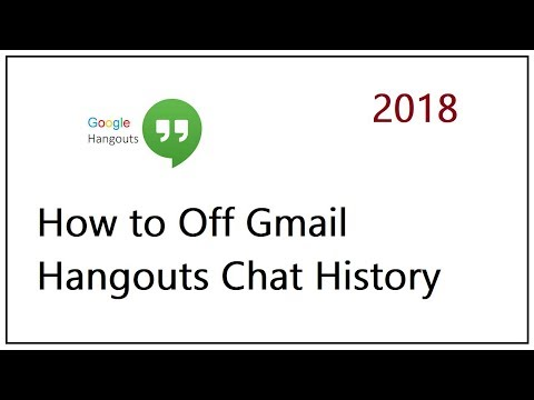 How To Off Gmail Hangouts Chat History