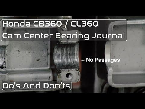 Honda CB360 / CL360 Center Cam Bearing Journal Failure Explained
