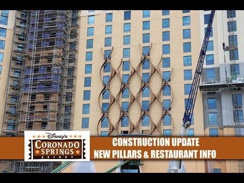 Disney's Coronado Springs Resort Construction Update New Tower Pillars & Possible Restaurant Opening
