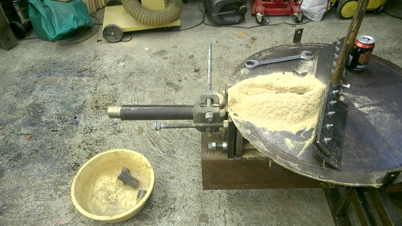 Homemade hydraulic sawdust briquette press youtube
