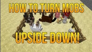 How To Turn Mobs Upside Down In Minecraft!