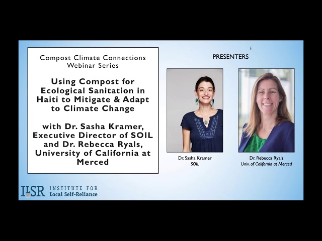 Webinar: Using Compost for Ecological Sanitation in Haiti to Mitigate & Adapt to Climate Change